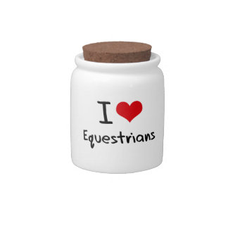 I love Equestrians Candy Dishes