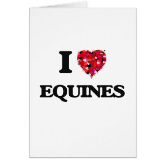 I love EQUINES Greeting Card