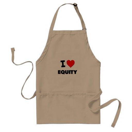 I love Equity Adult Apron