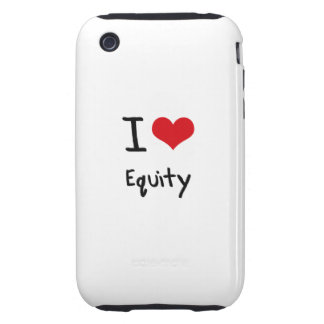 I love Equity iPhone 3 Tough Cover