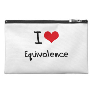 I love Equivalence Travel Accessories Bag