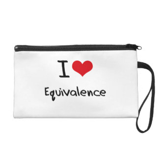 I love Equivalence Wristlet Clutches