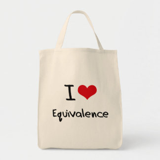 I love Equivalence Canvas Bags