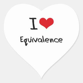 I love Equivalence Heart Sticker