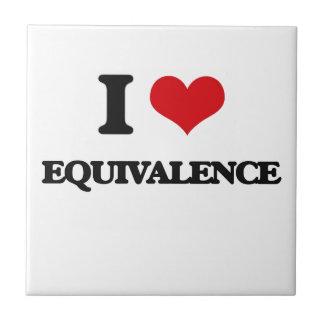 I love EQUIVALENCE Small Square Tile