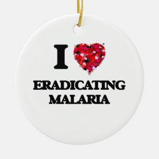 I love Eradicating Malaria Double-Sided Ceramic Round Christmas Ornament