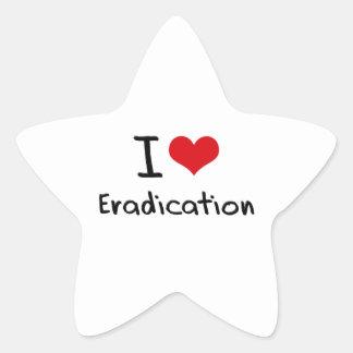 I love Eradication Sticker