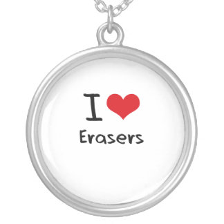 I love Erasers Necklace