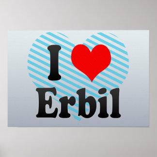 I Love Erbil, Iraq Poster
