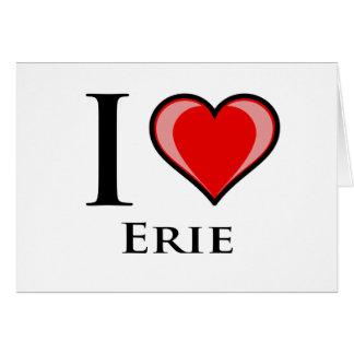 I Love Erie Card