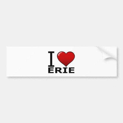 I LOVE ERIE,PA - PENNSYLVANIA CAR BUMPER STICKER