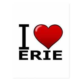 I LOVE ERIE,PA - PENNSYLVANIA POSTCARD