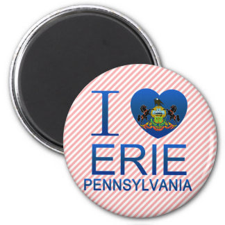 I Love Erie, PA Refrigerator Magnets