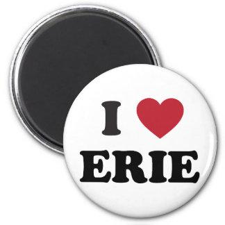 I love Erie Pennsylvania 2 Inch Round Magnet