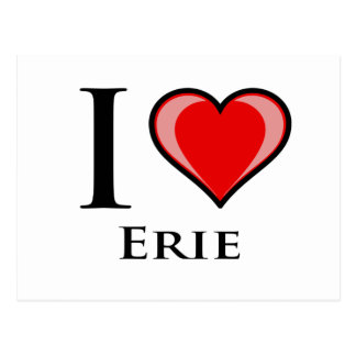 I Love Erie Postcard