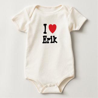 I love Erik heart custom personalized Romper