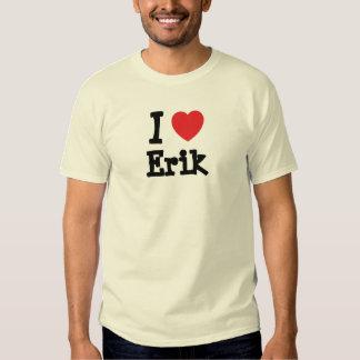 I love Erik heart custom personalized T-shirt