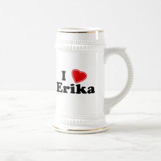 I Love Erika Beer Stein
