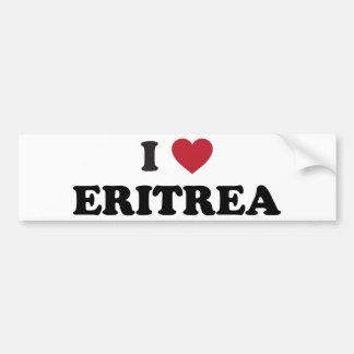 I Love Eritrea Bumper Sticker