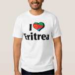 I Love Eritrea Flag Tee Shirt