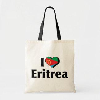 I Love Eritrea Flag Tote Bag