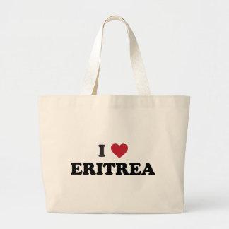 I Love Eritrea Large Tote Bag