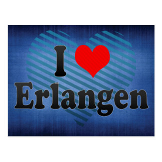 I Love Erlangen, Germany Postcard