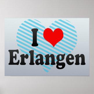 I Love Erlangen, Germany Poster