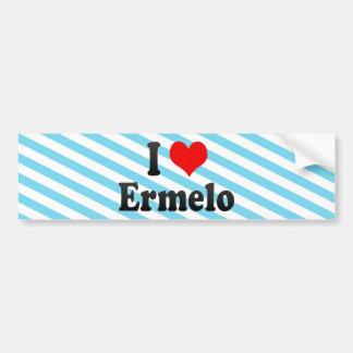 I Love Ermelo, Netherlands Car Bumper Sticker