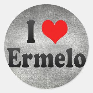 I Love Ermelo, Netherlands Classic Round Sticker