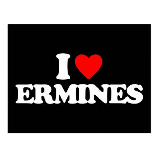 I LOVE ERMINES POSTCARDS