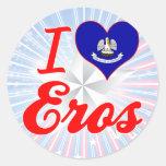 I Love Eros, Louisiana Round Sticker