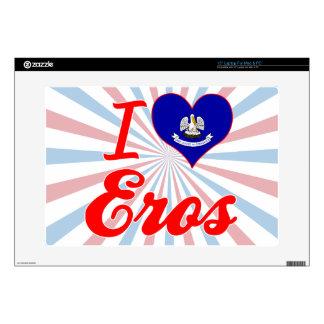 "I Love Eros, Louisiana Decal For 15"" Laptop"