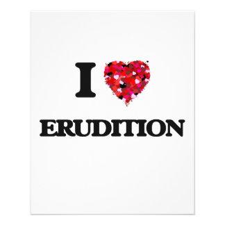 """I love ERUDITION 4.5"""" X 5.6"""" Flyer"""