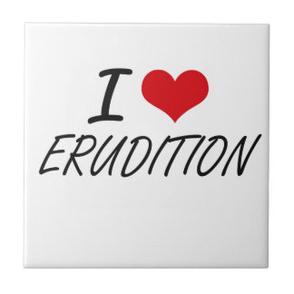 I love ERUDITION Small Square Tile