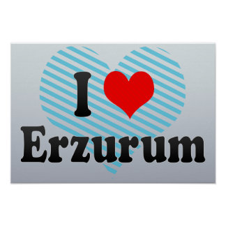 I Love Erzurum, Turkey Print