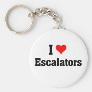 i love Escalators Keychain