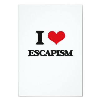 I love ESCAPISM 3.5x5 Paper Invitation Card