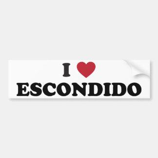 I Love Escondido California Bumper Sticker