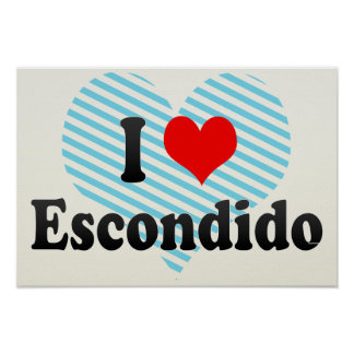 I Love Escondido, United States Poster