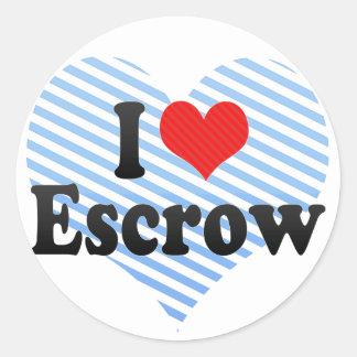 I Love Escrow Round Sticker