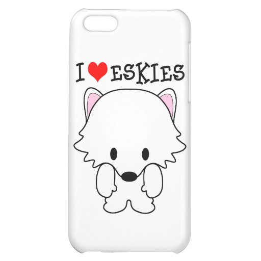 I Love Eskies Cover For iPhone 5C