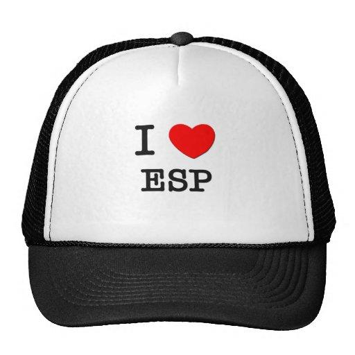 I love Esp Trucker Hat