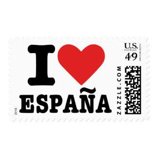 I love España - Spain Postage Stamp