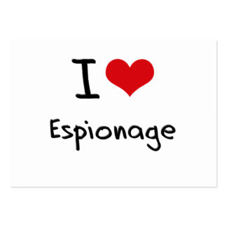 I love Espionage Large Business Cards (Pack Of 100)