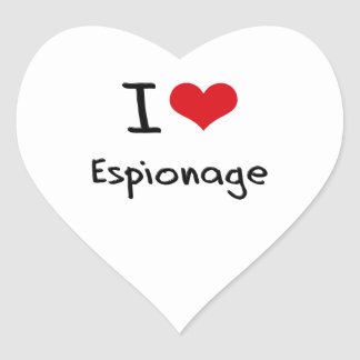I love Espionage Heart Sticker