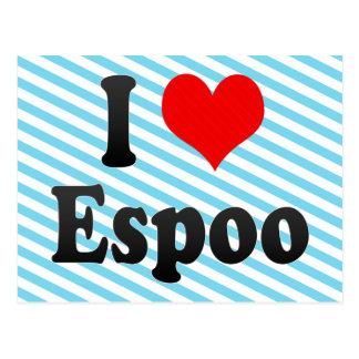 I Love Espoo, Finland Postcard