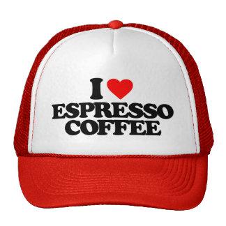 I LOVE ESPRESSO COFFEE HAT