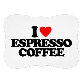 I LOVE ESPRESSO COFFEE PERSONALIZED INVITES