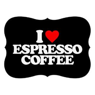 I LOVE ESPRESSO COFFEE CUSTOM INVITATION